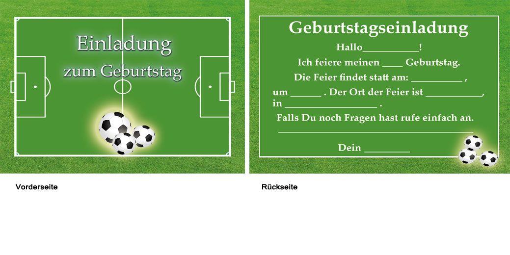 einladungskarten kindergeburtstag fussball 10 | party - soccer, Einladung