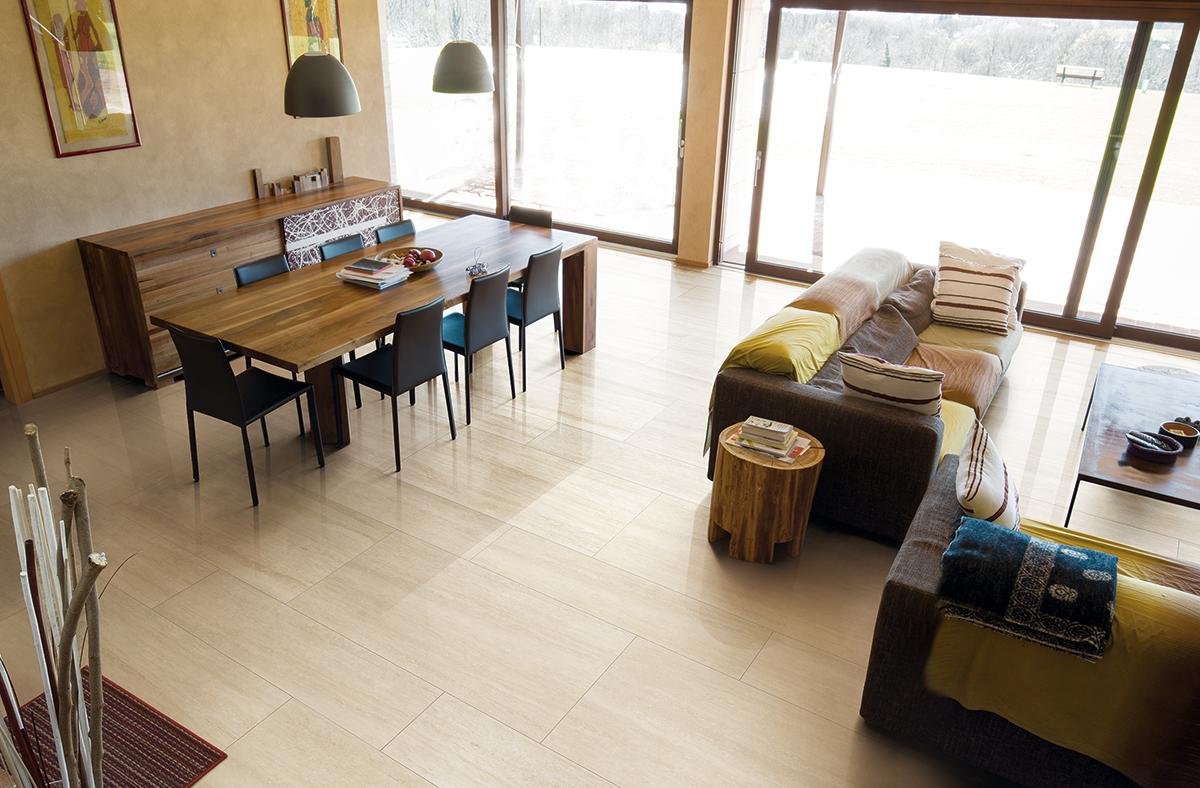 Cerim's Timeless range, in Travertin, large format tile