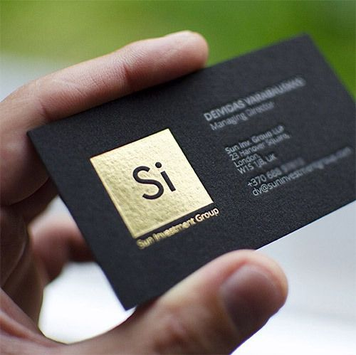 Luxury Top Graded High End Foil Stamp Business Cards