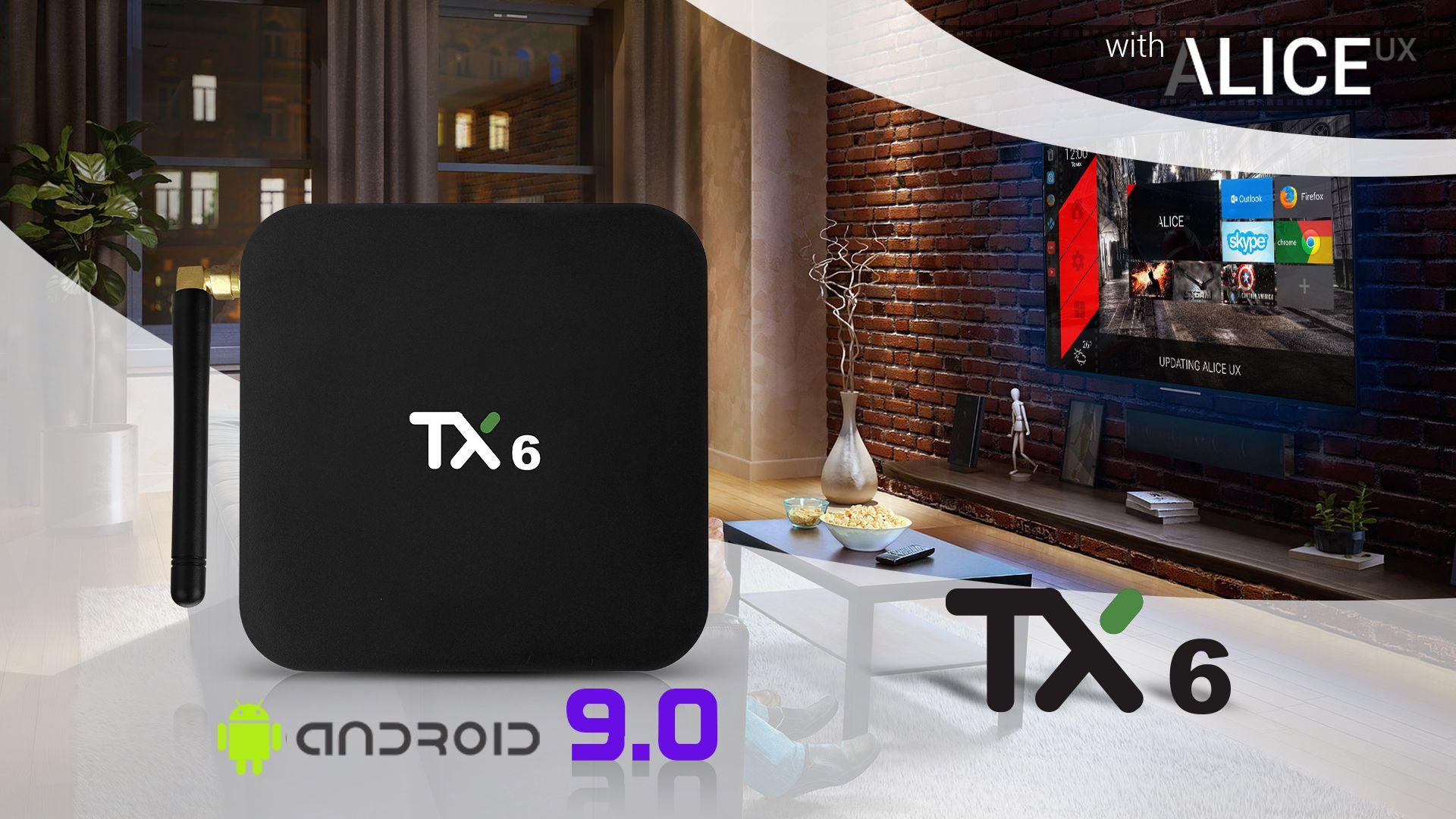 TX6 Quad 4 Core 4GB+32GB Android 9.0 TV Box Dual 2.4Ghz WIFI HD Media Player UK