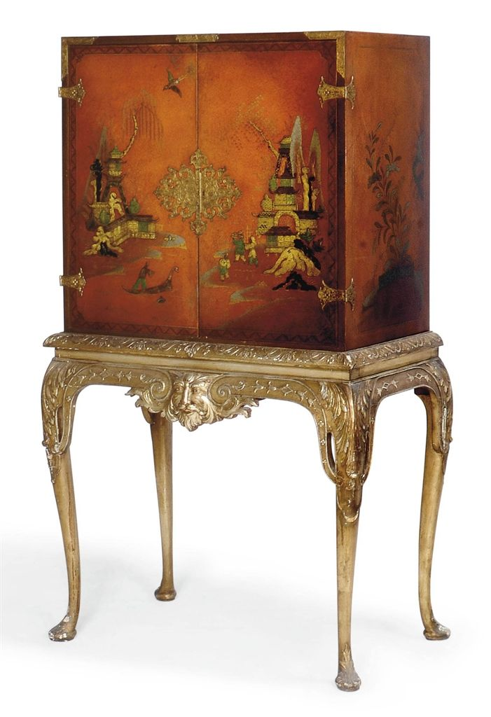 A Chinese Export Lacquer Cabinet On Stand Second Half 20th