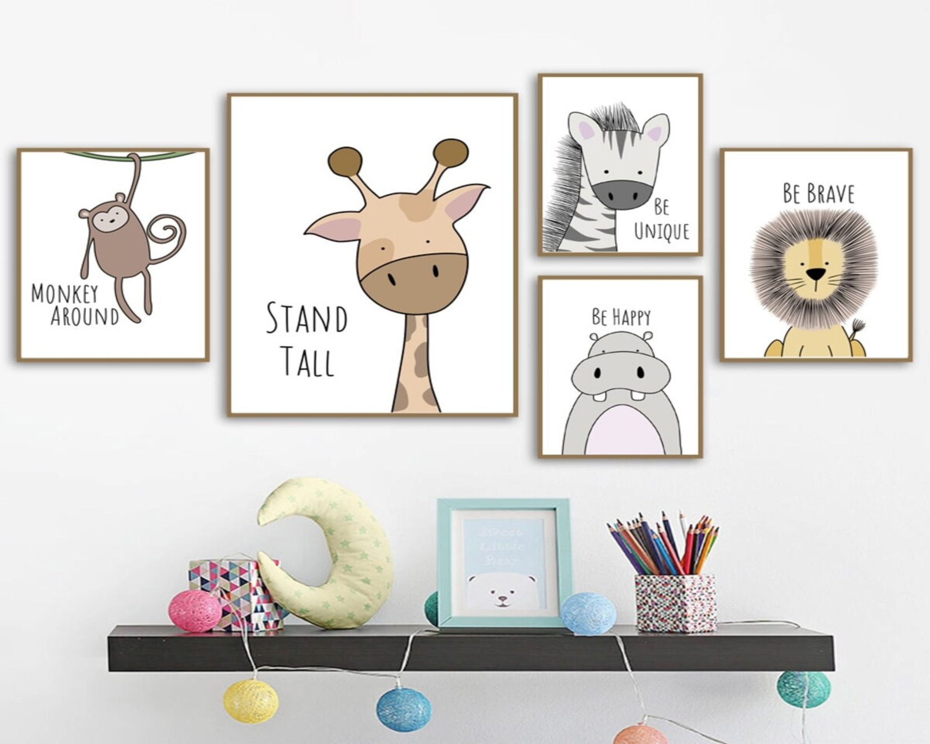 Wall Art Canvas Nordic Posters Nursery Prints For Baby Room