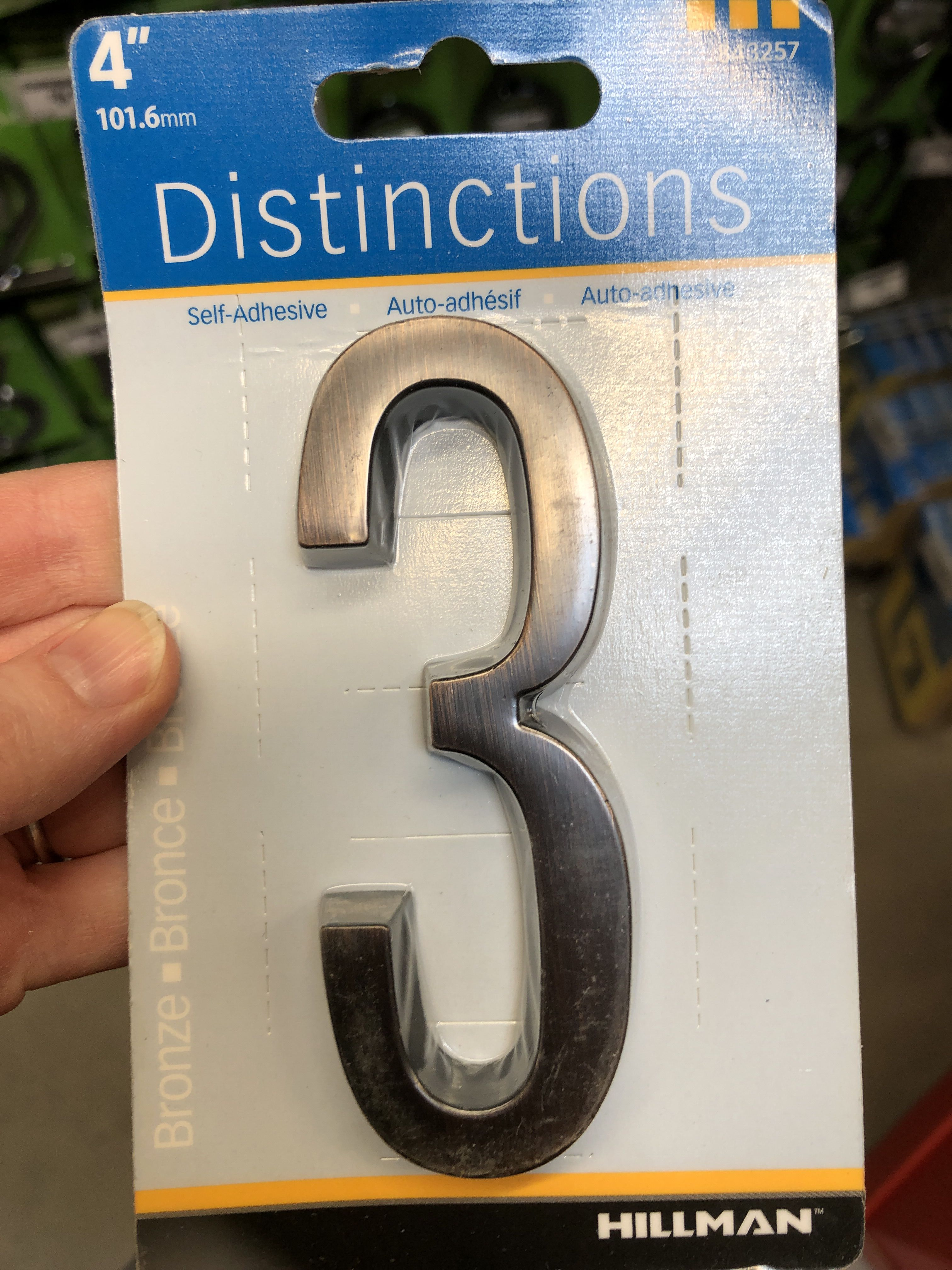 Home depot self adhesive house numbers only 4 though