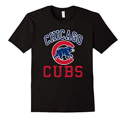 Men's Cubs Baseball Team Chicago Allsex T-shirt 2XL Black…