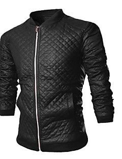 Martin Men's Fashion New Solid Color Slim Stand Collar Coat Leather Clothing