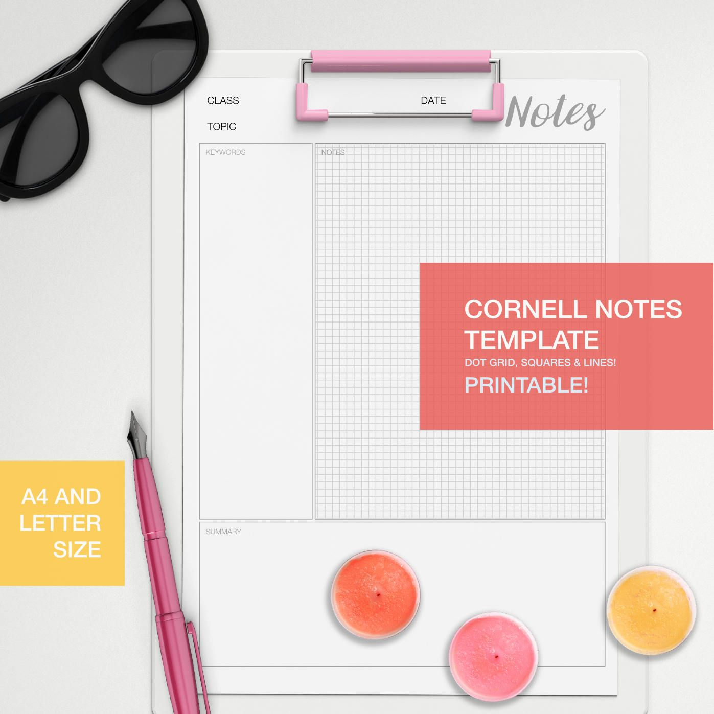 Printable Cornell Notes Template For Your Studying And NoteTaking