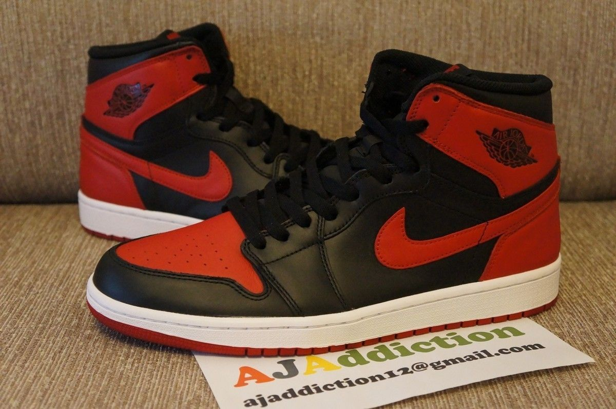 29cd17df2b0f8a Air Jordan 1 Retro High OG - Black Varsity Red    First Look ...