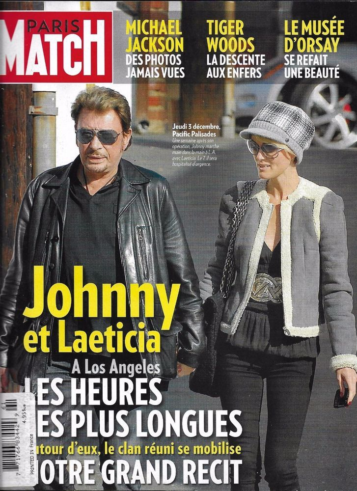 paris match magazine johnny hallyday michael jackson tiger woods supermodels johnny hallyday. Black Bedroom Furniture Sets. Home Design Ideas