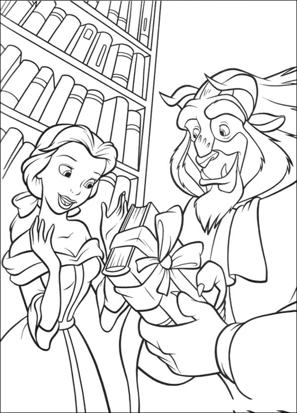 The Beast And Belle Coloring Pages Princess