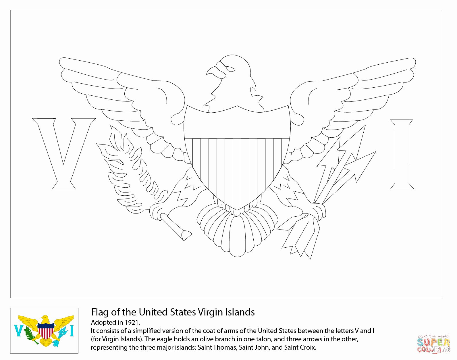 United States Coloring Page Luxury Flag Of The United States Virgin Islands Coloring Page In 2021 Coloring Pages United States Virgin Islands United States Flag