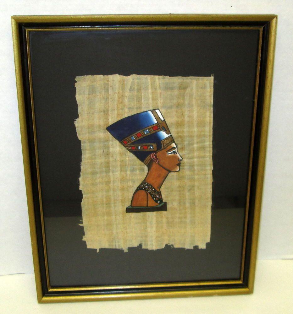 Framed Handmade Egyptian Papyrus Paper Painting - Egypt ...