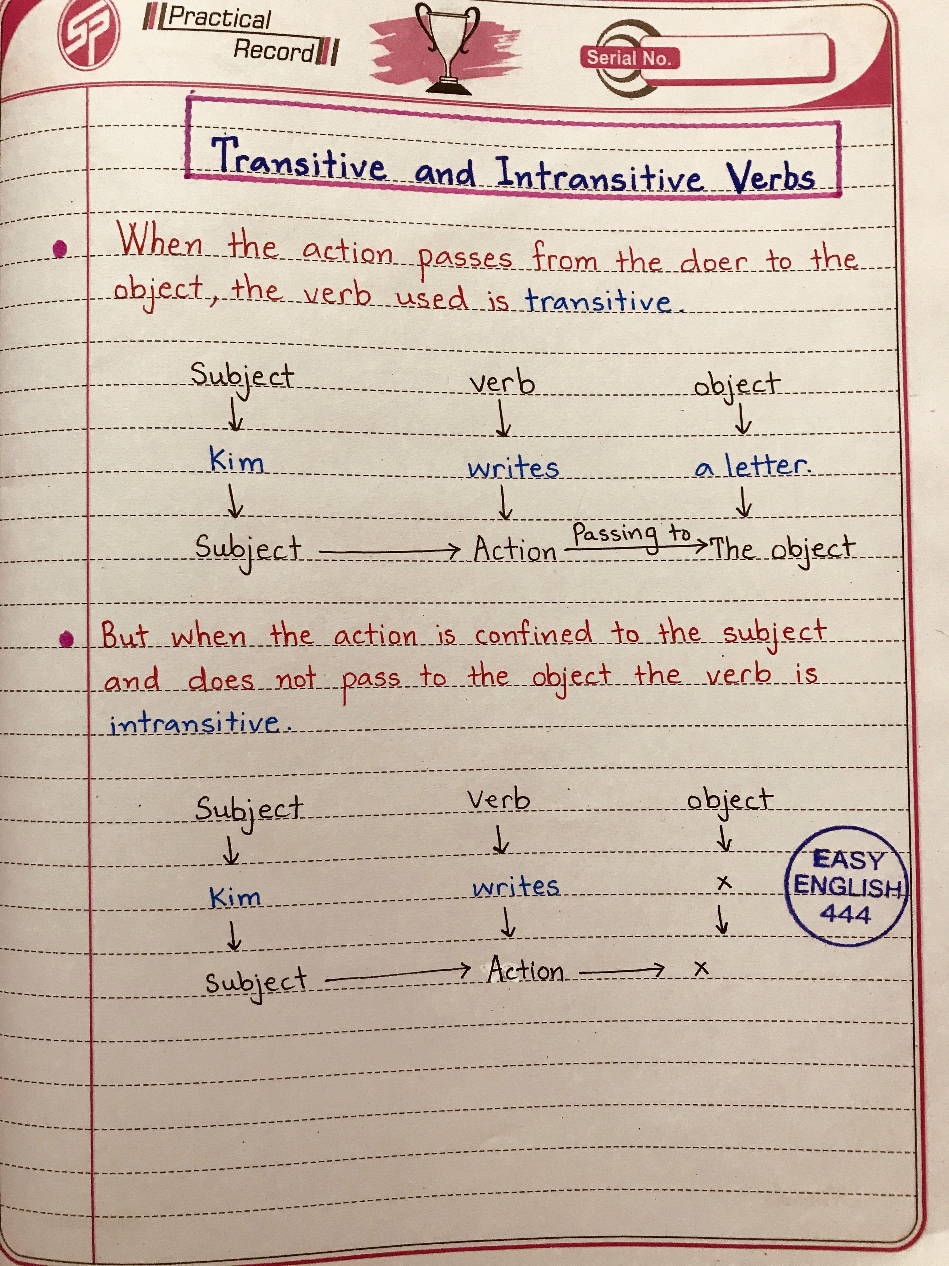 Learn Elementary English Language Handwritten In