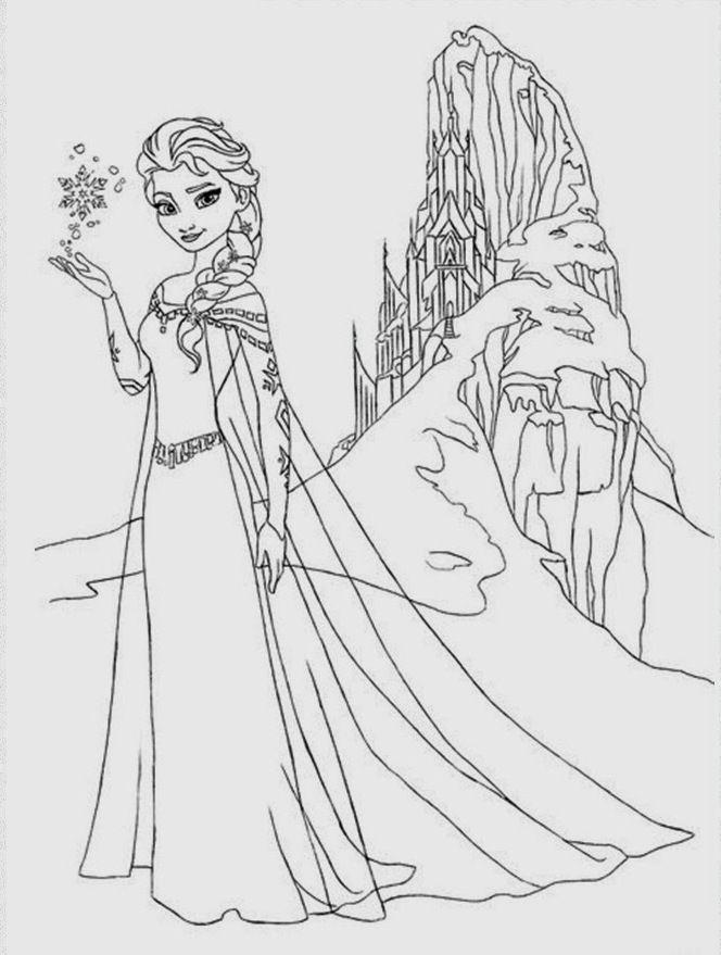 Elsa O Reino Do Gelo Frozen Frozen Para Colorir