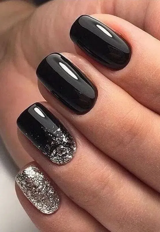 175 Trendy Nail Designs In 1 In 2020 With Images Short Square Nails Black Nail Designs Stylish Nails