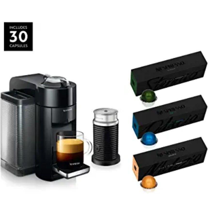 Nespresso Vertuo Coffee And Espresso Machine Bundle By De Longhi