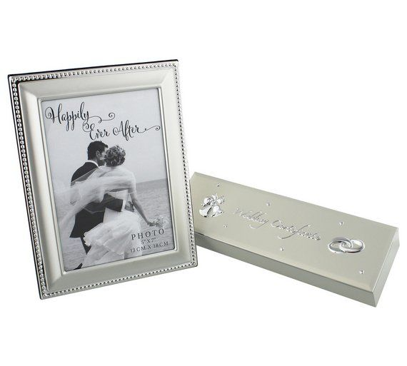 Buy Happily Ever After Silver Plated Frame Certificate Holder At