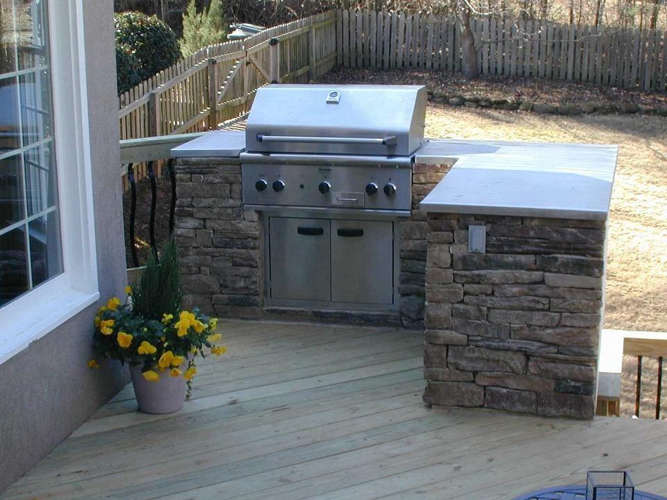 outdoor grills built in plans | Outdoor Kitchen on Deck ...