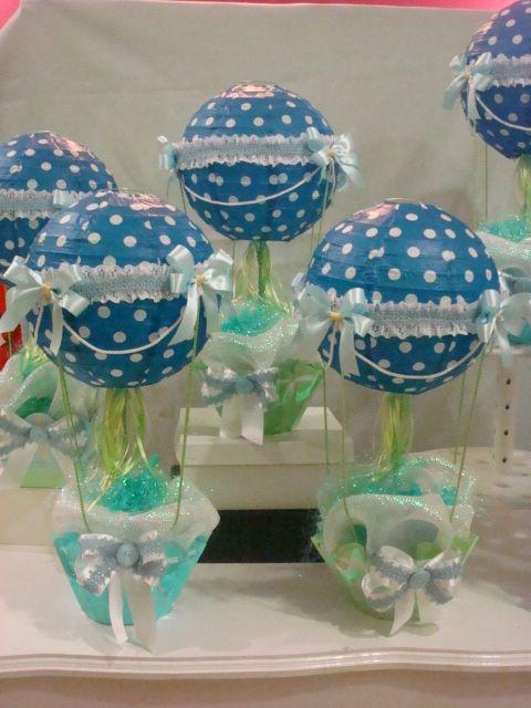 globos aerost ticos centros de mesa baby shower vintage