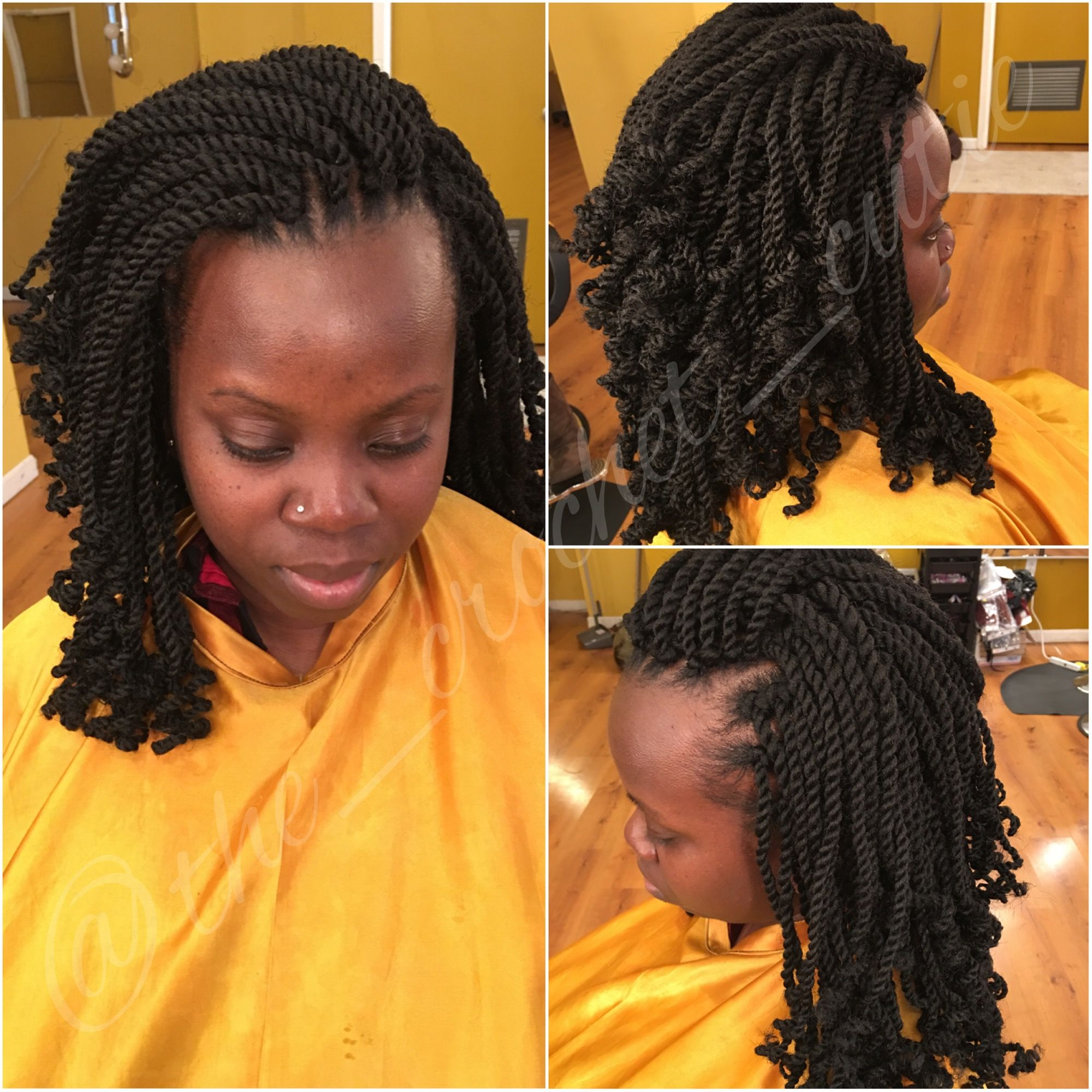 Crochet Kinky Twists Book your appointment today or purchase hair