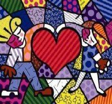 Romero Britto heart