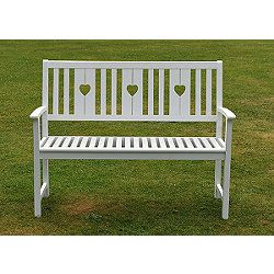 Superb Buy White Heart Bench From Our Garden Storage Benches Ibusinesslaw Wood Chair Design Ideas Ibusinesslaworg