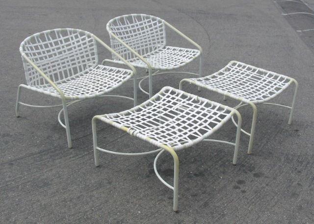Vintage Brown Jordan Kantan Patio Lounge Chairs Ottomans Patio Lounge Chairs Chair And Ottoman Chair