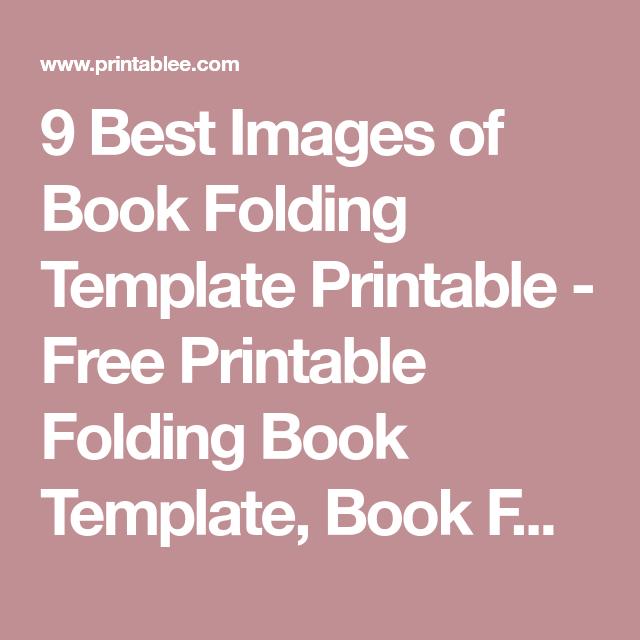 book folding template