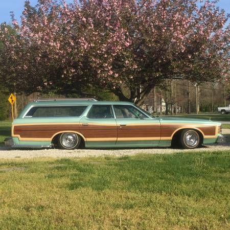 Bagged Woody Wagon Lowrider Ford Ltd Country Squire