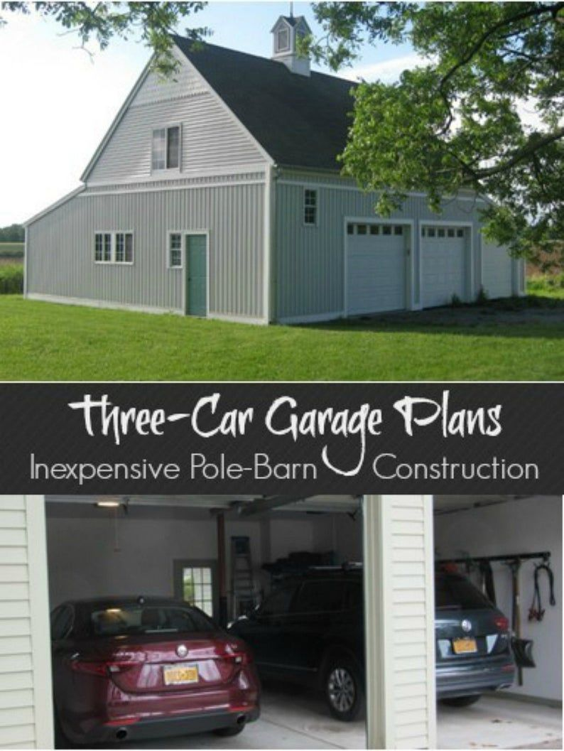 ThreeCar Garage Plans with Lofts 3 Different Sets of