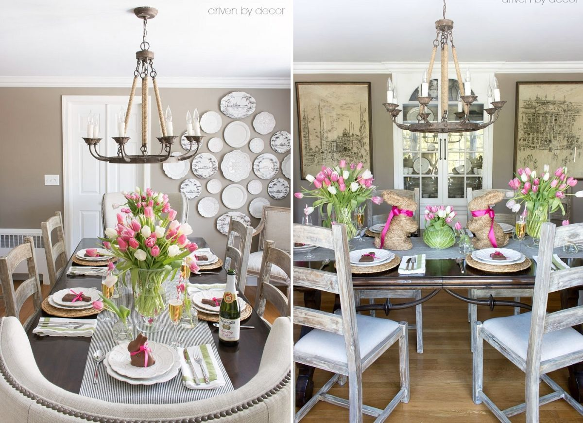 farmhouse easter table decor in 2020  easter table