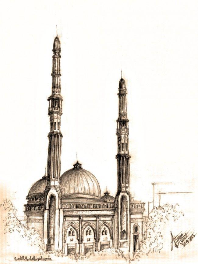 рисунок мечети карандашом