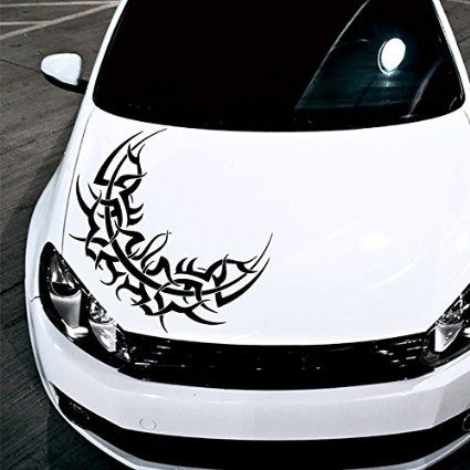 Car Decals Hood Decal Vinyl Sticker Moon Ornament Tattoo Pattern - Best automobile graphics and patterns