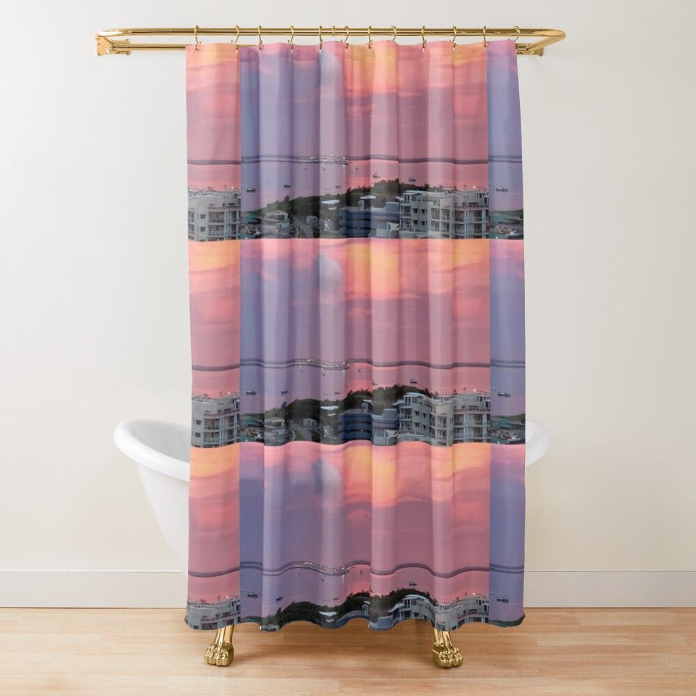 Darwin Harbour Sunset Shower Curtain By Marksandhu In 2020 Tubs