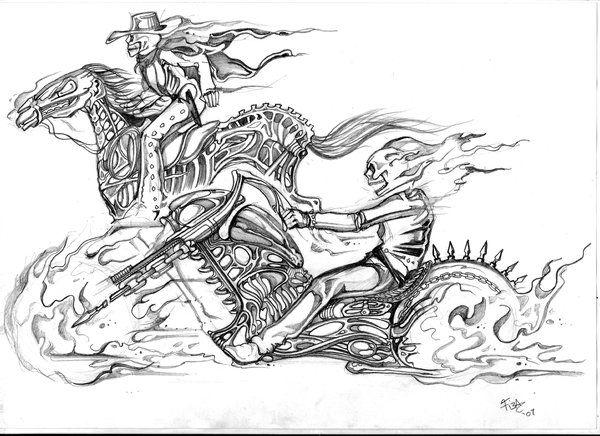 Ghost Rider Sketch By Tiesta By Bgeary787 On Deviantart Ghost Rider Tattoo Ghost Rider Drawing Ghost Rider