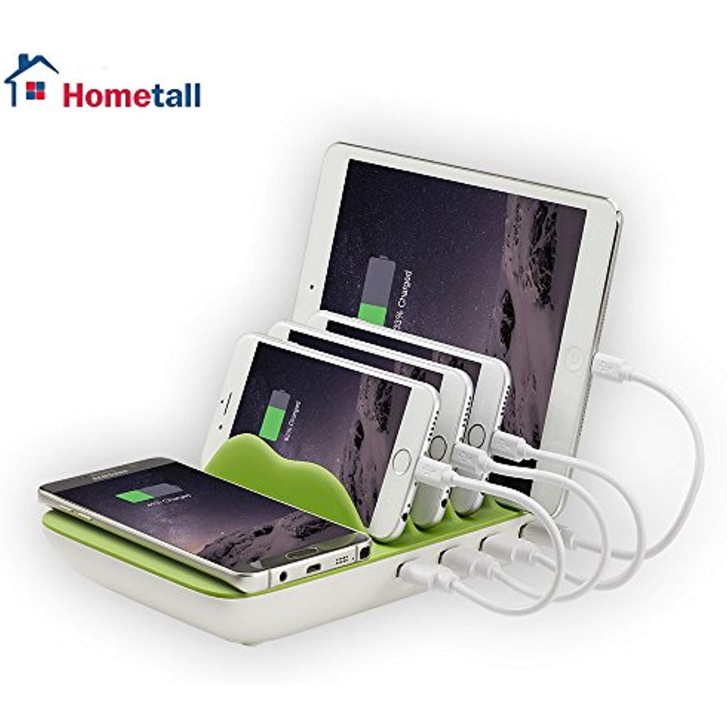 Handy Qi Charging Station For Multiple Devices Hometall 4 Port Usb Charger