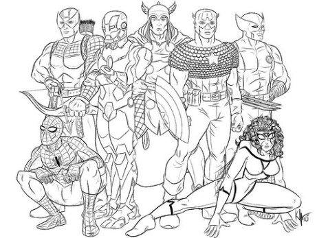 best Dibujos De Marvel Para Colorear Online image collection