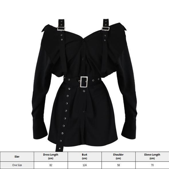 Elegant Straight Belt Button Sexy Dress -   12 dress Fashion belts ideas