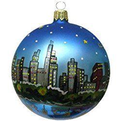 chicago christmas ornament chicago christmas ornament chicago skyline at night - Chicago Christmas Ornaments