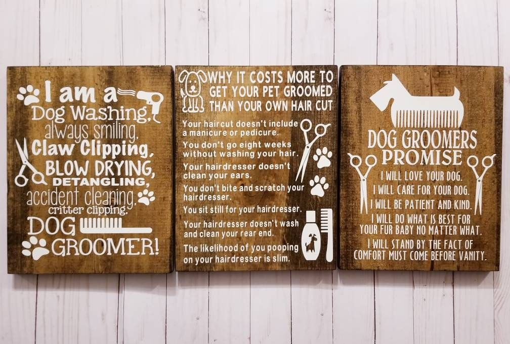 Dog Groomer Gift Grooming Quotes Business Signs Dog Grooming