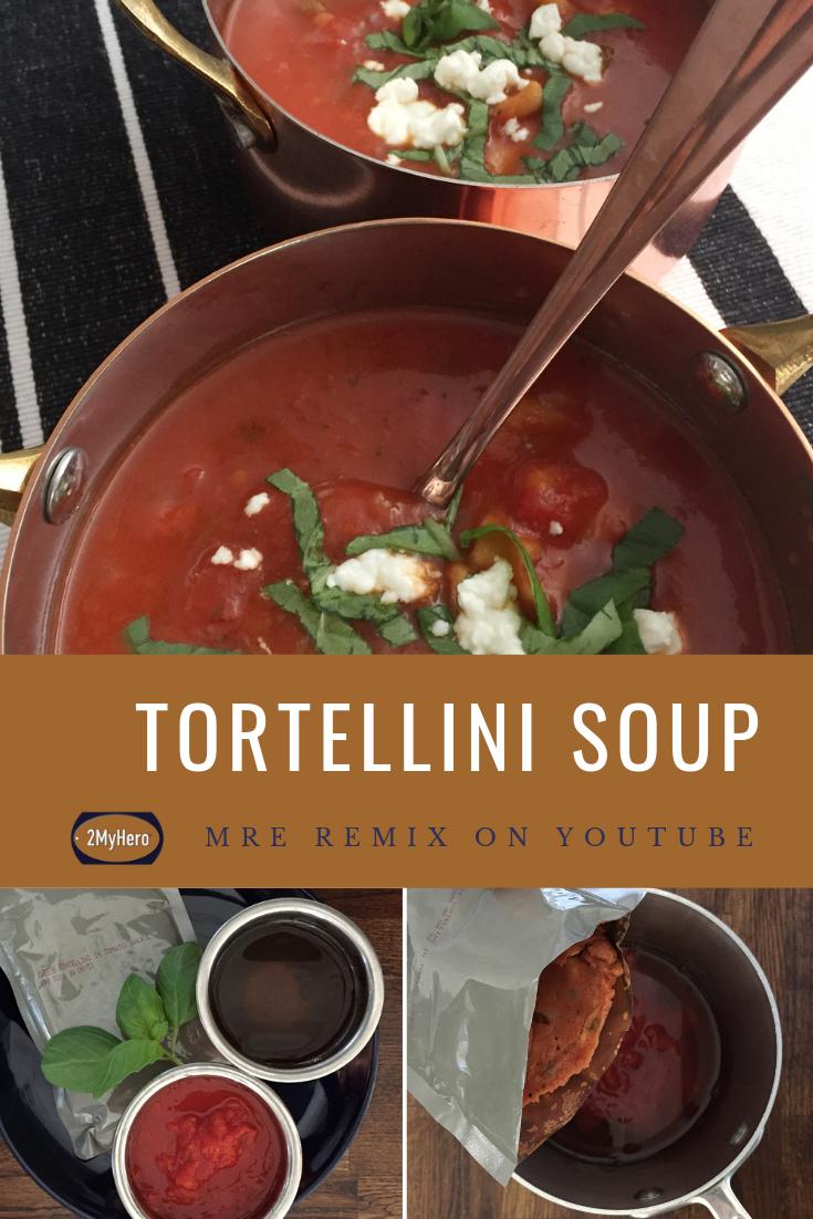 Tortellini Soup using an MRE Tortellini soup, Tortellini