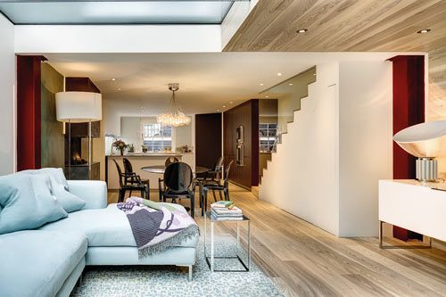 Maximizing Space in a Narrow Home by elips design | Home ... on modern homes interior design, natural homes interior design, old homes interior design,