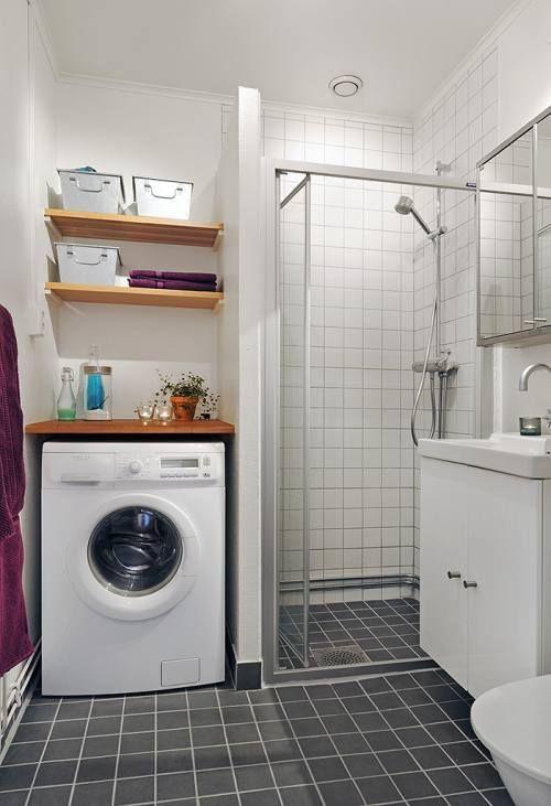 Cuarto de lavado en el ba o lavander a pinterest - Lavar almohadas en lavadora ...