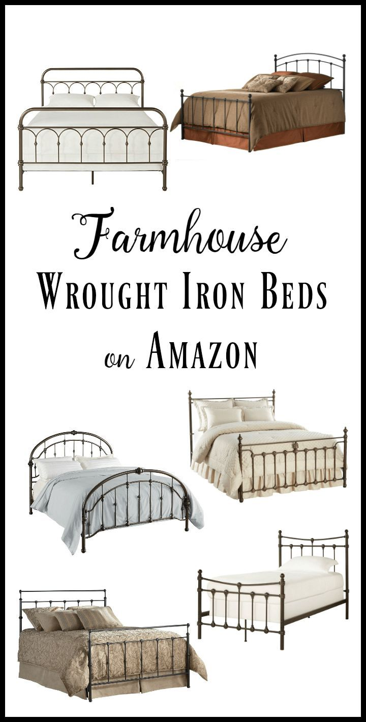 40 Inexpensive Farmhouse Style Wrought Iron Beds With Images