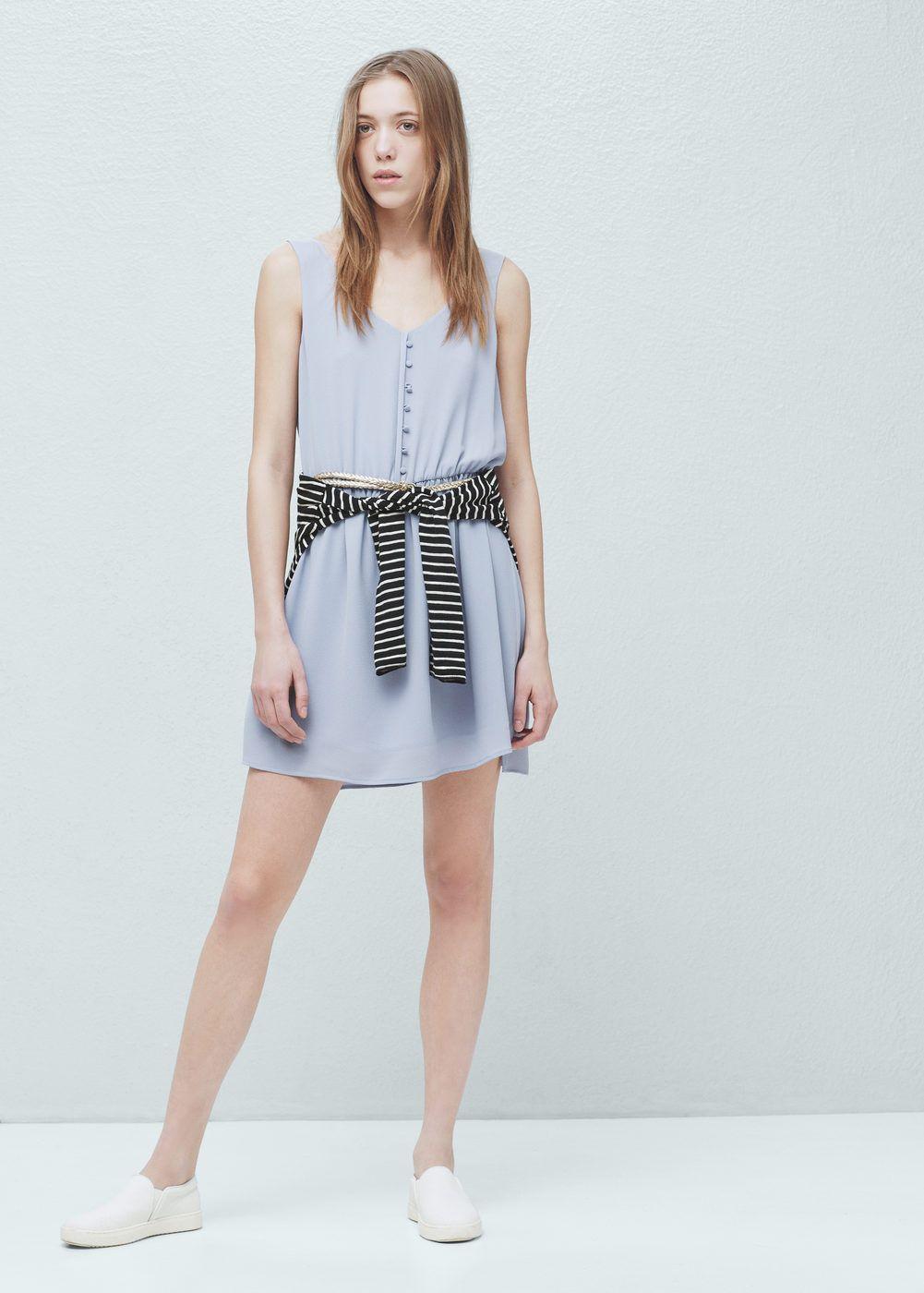 Contrast belt dress | MANGO
