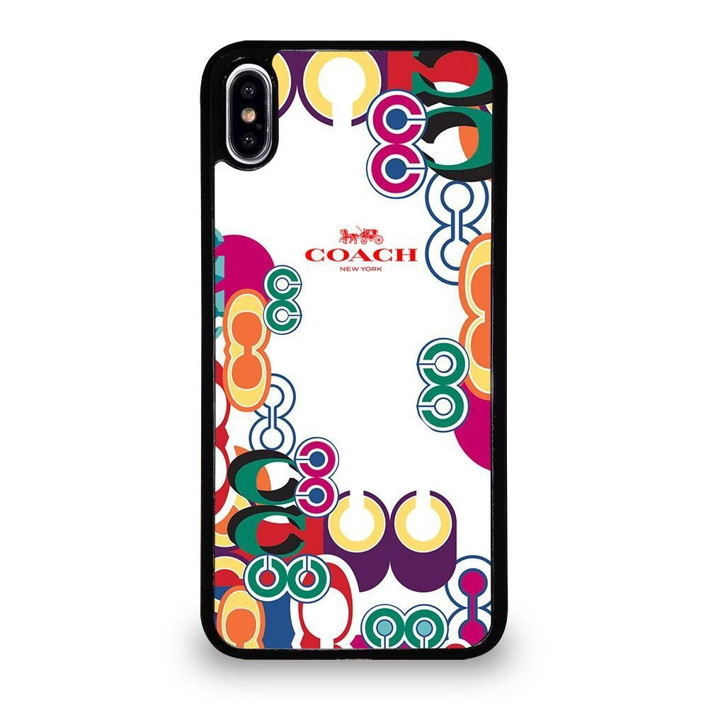 Coach new york color iphone xs max case cover iphone