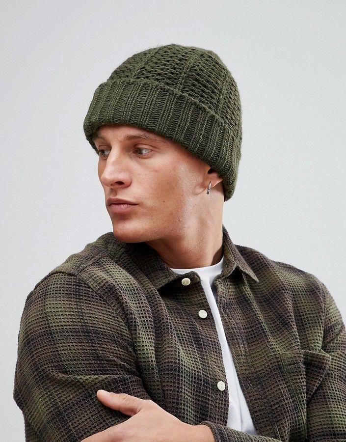 Boucle Twist Knit Beanie - Navy Burton Menswear CWrcA9HfA