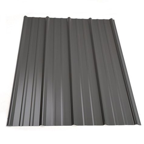 12 Ft Classic Rib Steel Roof Panel In Charcoal Roof Panels Steel Roof Panels Metal Roof Panels