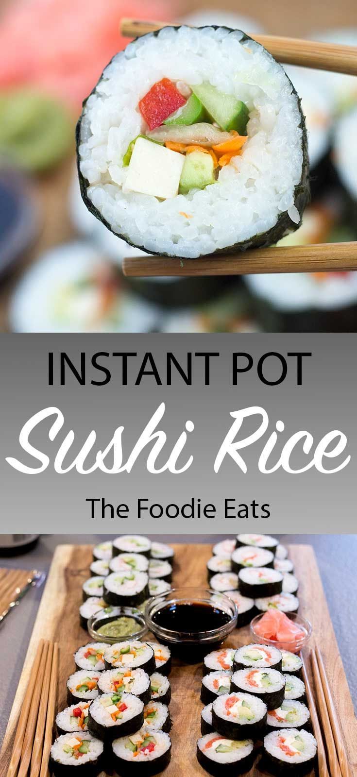 Instant Pot Sushi Rice #seasonedricerecipes