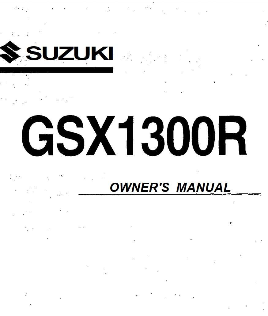 Suzuki GSX 1300 R Owner's Manual has been published on