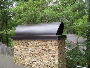 Custom Chimney Cap With Faux Bronze Finish On An Addition